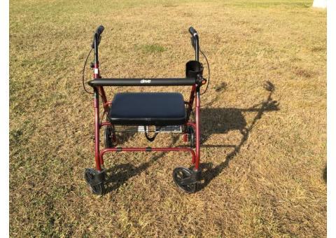 Go-Lite Bariatric Steel Rollator Walker