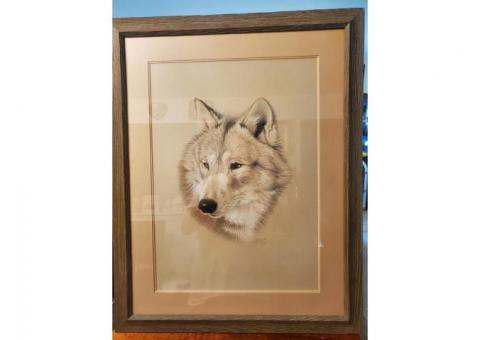 Original Wolf Pastel 1981